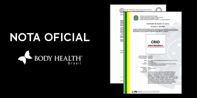 Nota oficial Criofrequencia - Body Health Brasil